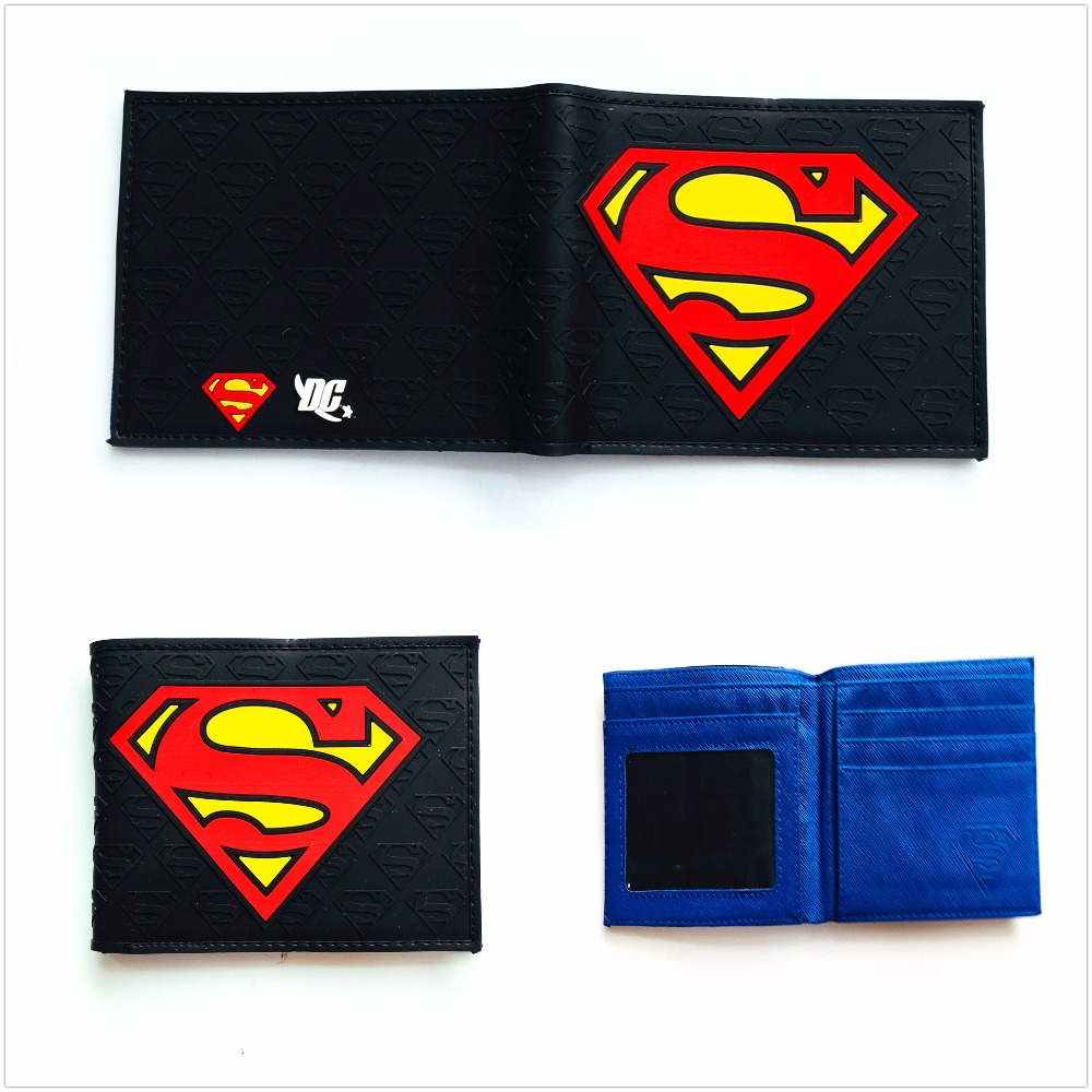 Wallets Men's Bags Objective Anime Wallets New Designer Superman Wallet Young Boy Girls Purse Small Money Bag W1041q