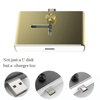 Mini 32GB U Disk iflash drive with USB2.0 charge plug for Iphone Android Phone Charger Adapter Purple Silver Black Gold