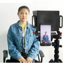 Телефон Teleprompter для 4-7 дюймов смартфон съемка советы для живого интервью короткий видеозахвата Teleprompter