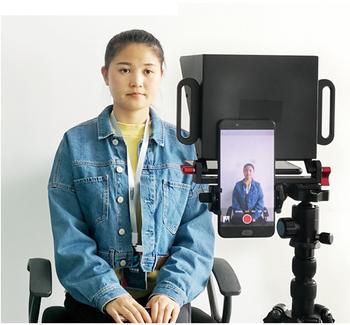 Telefon Teleprompter dla 4-7 Cal wskazówki dotyczące fotografowania smartfonów dla wywiadu na żywo krótkie przechwytywanie wideo Teleprompter tanie i dobre opinie Nagrywanie Zestawy TY-T2 Pakiet 1 NoEnName_Null