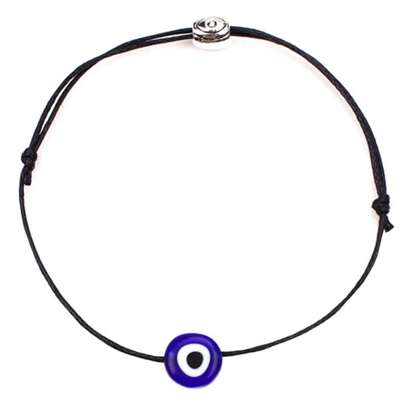 Fashion Thin Black Red Thread Cute Bracelet String Rope Braided Bangles For Women Men Adjustable Length Good Lucky Jewelry