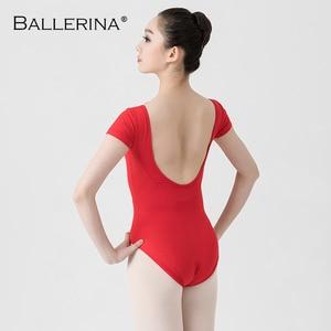 Image 2 - Leotardos de Ballet para las mujeres Yoga baile Sexy formación profesional gimnasia Impresión Digital impresión Leotardos de baile de pescado de belleza de 5648