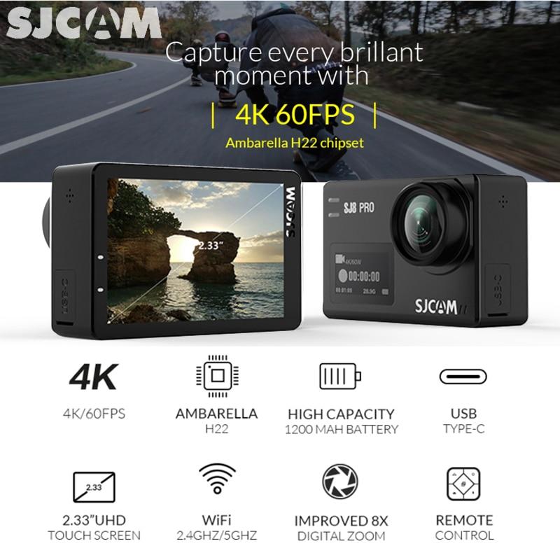 SJCAM SJ8 Pro caméra d'action SJ8 Plus Sports DV 1290 P 4 K WiFi à distance 30 m étanche sous-marine SJ SJ8 Air Sport extérieur caméra