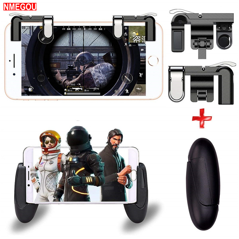 Mobile Phone Game Fire Button Controller & Joystick L1R1 Trigger for IPhone Samsung Pubg Rules of Survival Gaming L1 R1 Gatillos