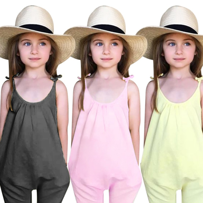 Kids Girls Jumpsuits Summer Baby Girl Clothes Solid Overalls Jumpsuit Bodysuits Soft Girls Fashion Outfit ClothesKids Girls Jumpsuits Summer Baby Girl Clothes Solid Overalls Jumpsuit Bodysuits Soft Girls Fashion Outfit Clothes