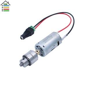 Image 2 - DIY Mini Hand Drill Kit Electric Motor Drill Press JT0 Keyless Chuck 10pc Twist Bits Adjustable Speed Power Adapter Woodworking