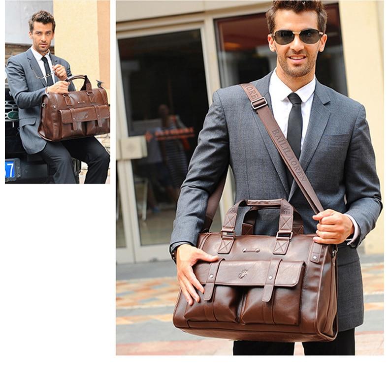 HTB1qZTSJ3HqK1RjSZFgq6y7JXXaQ Men Leather Black Briefcase Business Handbag Messenger Bags Male Vintage Shoulder Bag Men's Large Laptop Travel Bags Hot XA177ZC