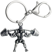 Dumbbell Muscle Man Keychains Fitness Punk Model For Male Car Wallet Dangle Key Ring Sports Hip Hop Jewelry Gifts 2018 Hot Sale