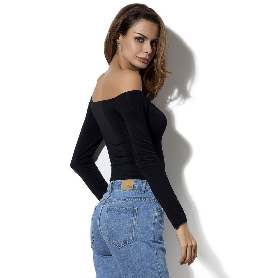 HTB1qZTpRXXXXXaTXFXXq6xXFXXXY - Off Shoulder Tops Women New Arrivals Long Sleeve Cotton T shirt Women Casual Slim Fit Female T-shirt Sexy Tee Shirts Black