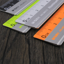 scale ruler mapping measurement of office stationery 15/20/30CM Aluminium alloy ruler steel cutting ruler