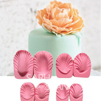 3D JM025 Peony Flower Series Mould Fondant Cake Molds Chocolate Mould For The Kitchen Baking 8pc