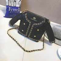 Women Shoulder Bag Clothing Shape Handbag Baolika Zipper Rushed Bolsas In Europe And Female Bag Chain