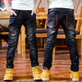 2-7 years old new letter design blue jeans hot children boy fashion pants cartoon hot solid clothing long casual for2016 pant
