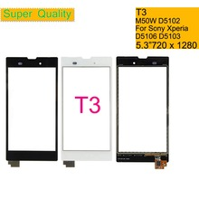 Touchscreen For Sony Xperia T3 M50W D5102 Touch Screen Digitizer Front Glass T3 LTE D5103 D5106 Touch Panel Sensor Lens NO LCD all tested lcd screen digitizer display assembly for sony xperia t3 m50w d5102 d5103 d5106 black white free shipping