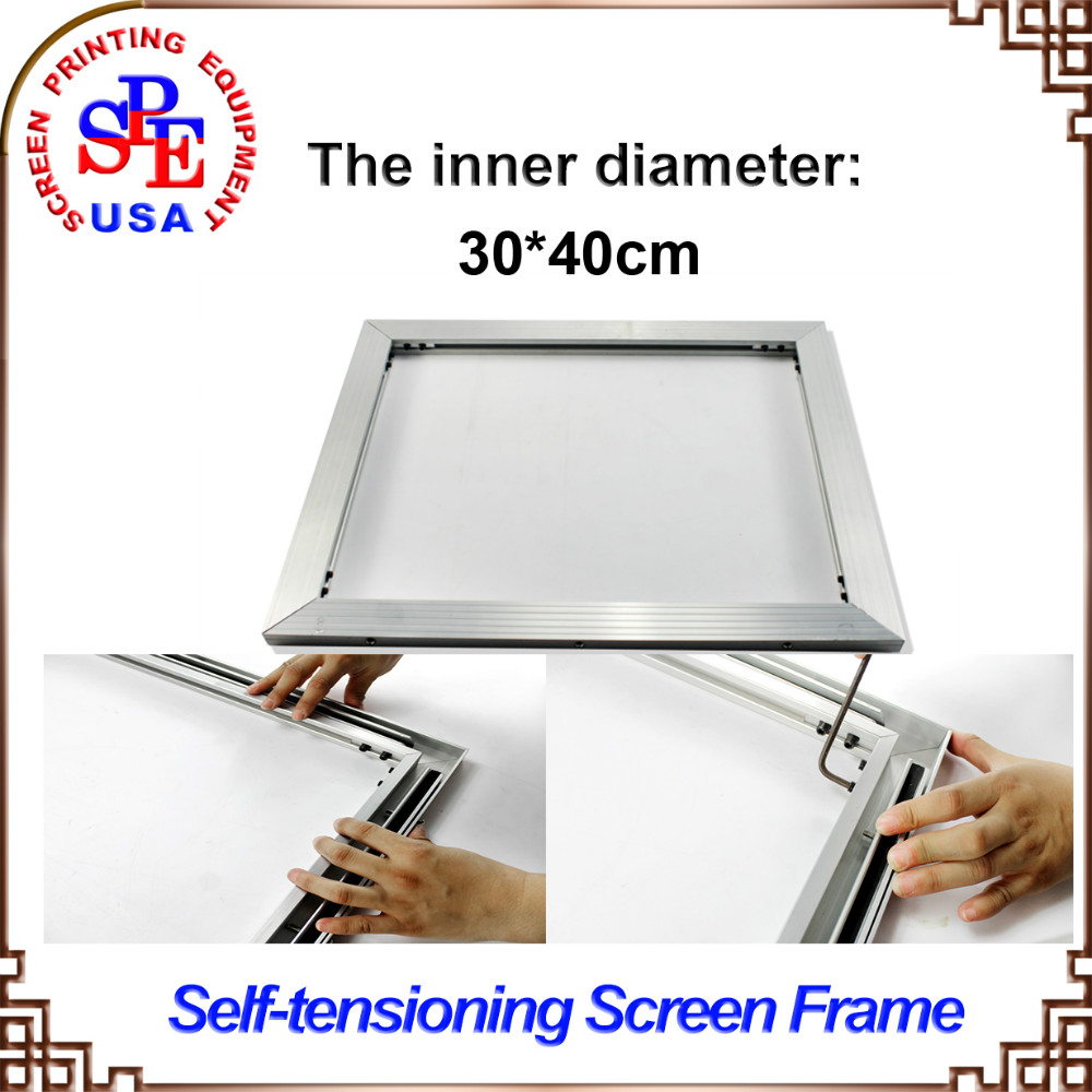ФОТО inner size 30*40cm  screen frame 2015 type self-tensioning screen frame easy operate high quality no need strecter