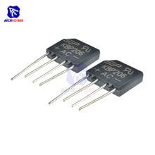 Bridge-Rectifier Diode 600V 2A KBP206 5pcs/Lot SIP-4 Integrated-Circuit Single-Phase