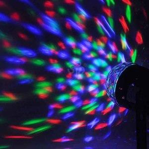 Image 3 - 110V 220V Mini RGB LED Crystal Magic Ball Stage Effect Lighting Lamp Bulb Party Disco Club DJ Light Laser Show Lumiere Beam SL01