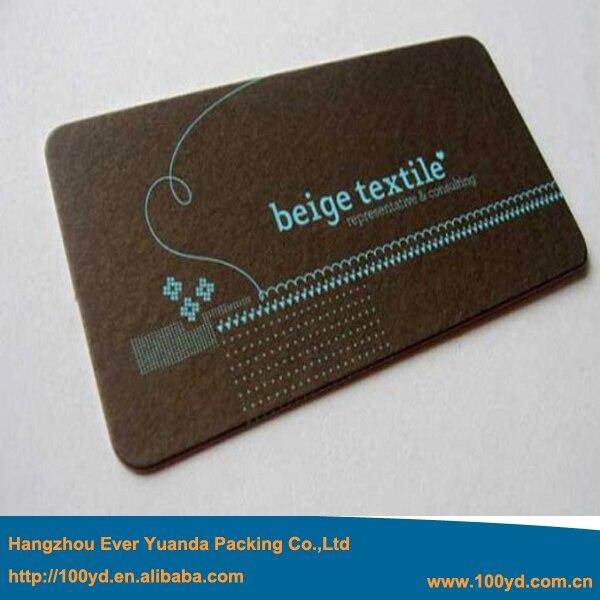 Livraison Rapide Deluxe Noir Carton Imprimer Affaires Bleu Dorure Nom Carte Coin Rond 600gsm Texture Cartes