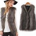 Plus size casaco de pele falso xxxl para as mulheres pavão cor faux fur vest inverno quente brasão furry inverno-clothing feminino clothing
