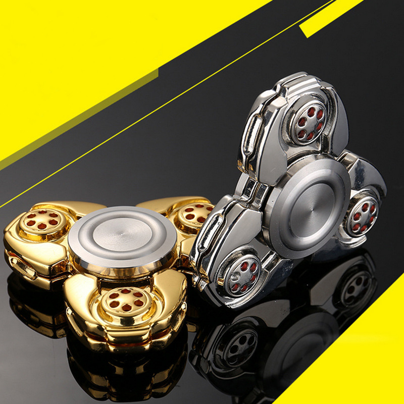 Fidget spinner metal Russian CKF Alloy Triangle Gyro EDC Hand Finger spinner For Autism ADHD Anxiety