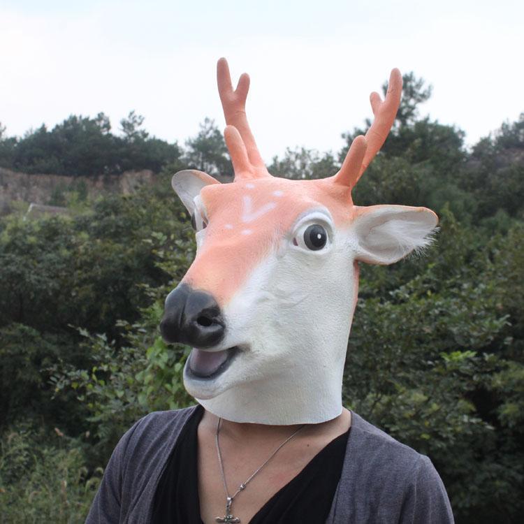 Party Maskenbal Guma Maske za lateks životinje Sika Spotted Deer - Za blagdane i zabave - Foto 4