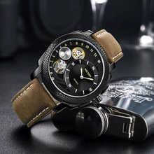 MEGIR Casual Men Watch Top Brand Luxury Chronograph Quartz Clock Relogio Masculino Waterproof Leather Army Military Wristwatch - DISCOUNT ITEM  50% OFF All Category
