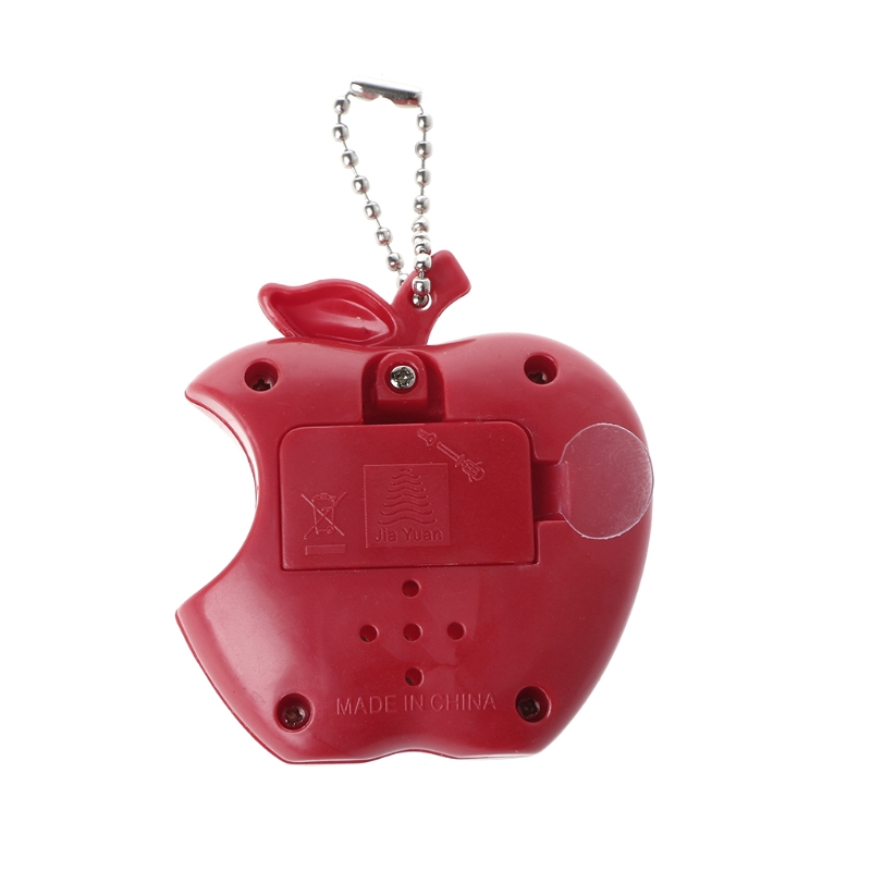 LCD Virtual Digital Pet Electronic Game Machine Toy Apple Shape With Keychain in Handheld Game Players from Consumer Electronics