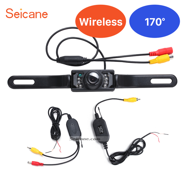 Seicane 2.4G Wireless Waterproof Car Reverse Rear View Camera Backup Parking Camera Waterproof Night Vision Car RearView Camera