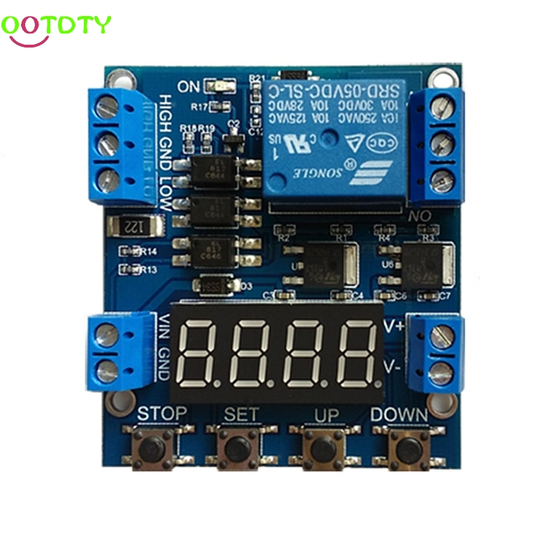 1 Channel Relay Module Cycling Timing Counting Control Voltage Detection Trigger  828 Promotion 1pcs current detection sensor module 50a ac short circuit protection dc5v relay
