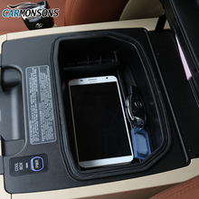 Carmonsons Mittelarmlehne Aufbewahrungsbox Behälter Ablageschale Zubehör für Lexus LX570 LX 570 2007 + Auto Organizer Car Styling