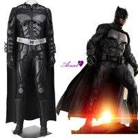 Бэтмен Косплэй костюм справедливости Лиги Брюс Уэйн накидка The Dark Knight Rises Костюмы супергероя взрослых Для мужчин Наряд полный набор