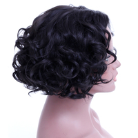 SHANGKE Short Curly Wigs For Black White Women Heat Resistant Synthetic Hair Wigs For African American