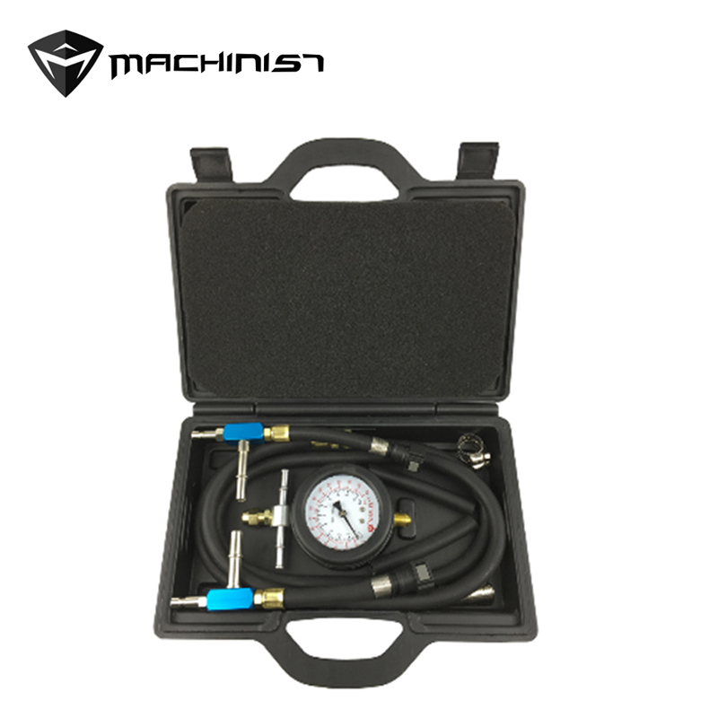 9pcs Auto Fuel Injection Pump Pressure Tester Kit Petrol Gas Engine Cylinder Compression Gauge Diagnostic Tool  NY-RYKJ9P shijiazhuang hb150 tractor parts fuel injection pump assy for engine 1100 jianmen brand