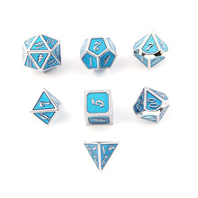 7pcs/Set Metal Dice Dnd Dices Set Rpg Polyhedral Solid Dungeons and Dragon Table Games Zinc Alloy Red Digital D&d Dice цены онлайн
