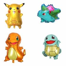 1pcs Pikachu Pokemon Go Cartoon Animal Helium Foil Balloons Birthday Party Decorations Kids Ballons Baby Shower Boy Decor Globos(China)