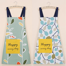 Simple Flower Leaf Pattern Cotton Apron Pattern Cooking Panting Aprons Restaurant Working Clothes Coffee Use Nail Salon Aprons