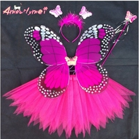 Angel Butterfly Wings And Tutu Skirts Halloween Cosplay Costumes For Fairy Girls Kids Performance Costumes Free