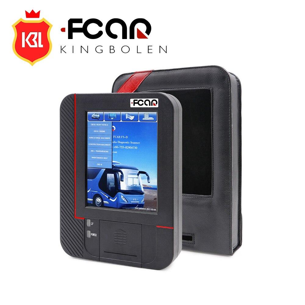 Цена за Оригинал Fcar F3-D Heavy Duty Truck Сканер для Дизельных Fcar F3 D Грузовик Диагностический Инструмент Обновление Онлайн с Нескольких язык