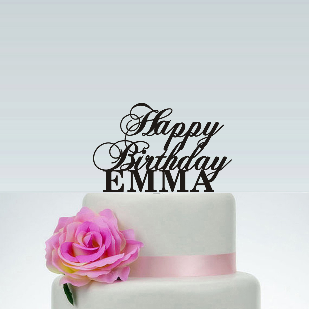 Custom Name Happy Birthday Cake Topper Personalized Baby