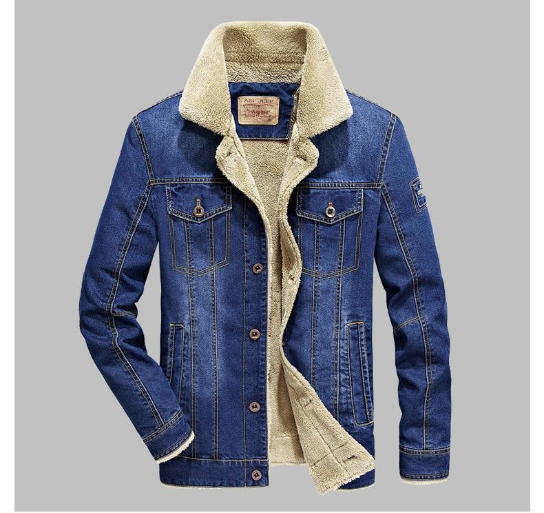 Hombre Vaquero Outwear Gota 4xl Nave Hombres Caliente Jeans Y Azul Abrigos Denim Gruesa Invierno M Chaqueta Ropa Moda azul Cielo Marca OZqg6Cn
