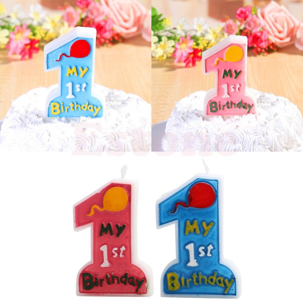 ⑤Mi 1st cumpleaños toothpick cake vela niños primera decoración de ...