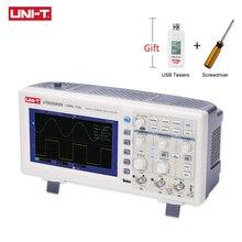UNI T osciloscopio de almacenamiento Digital UTD2102CEX, 2 canales, 100MHZ, medidor de alcance, pantalla LCD ancha de 7 pulgadas
