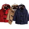New Fashion Kids Woolen Coat Children Baby Girls Boys Hooded Overcoat Trench Jacket Coats Outwear BM