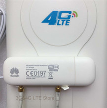 Unlock Huawei E8372 E8372H-608 4G wifi modem with LTE high gain antenna double TS9 connector