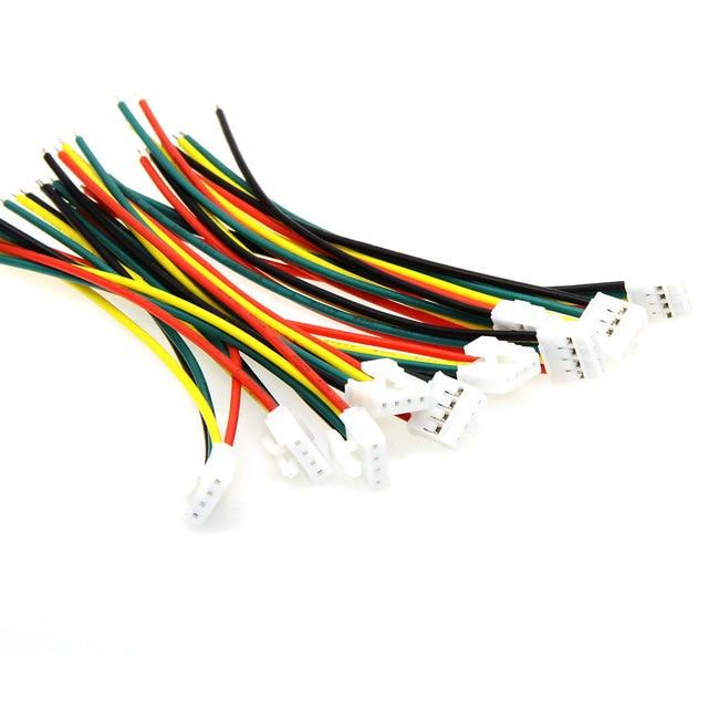 10 pcs/Lot XH2.54 4 P câble de faisceau de câbles ligne électronique à tête unique 4PIN 10 CM
