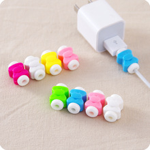 10 Pieces Lot Cord Protector For IPhone Charging Data Cable Protect D1 Best Cartoon Bow For Usb Earphones Wire Protective Winder