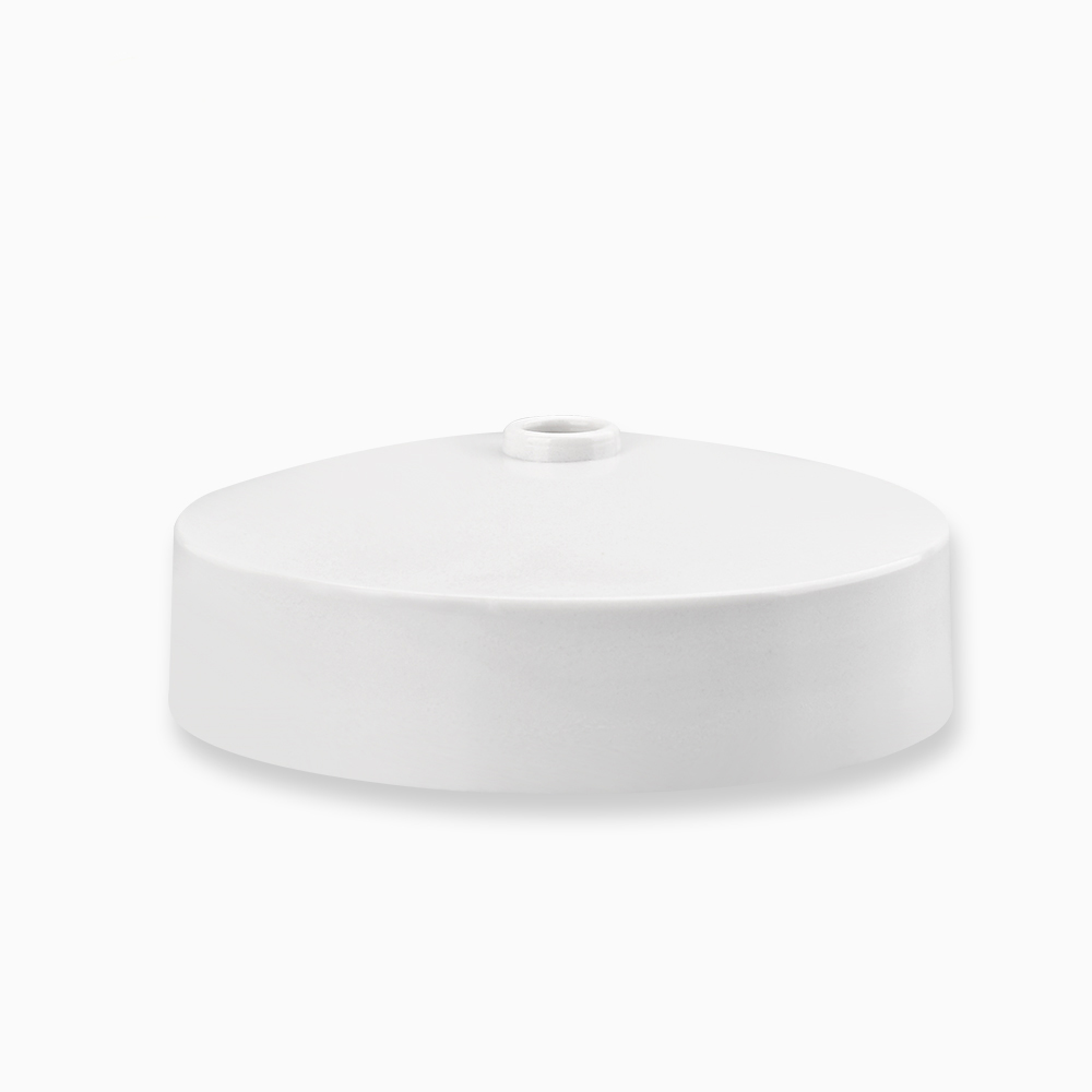 Cheap White Ceiling Rose BS Uk Standard Transparent Back Round Junction Box Bakelite 6A Lighting Accessories With Cord Grip
