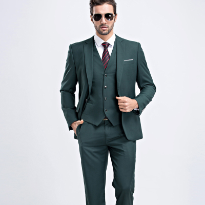 MarKyi fashion mens summer suits wedding groom 9 colors solid slim fit wedding suits for men 3 peice (jacket+vest+pant)