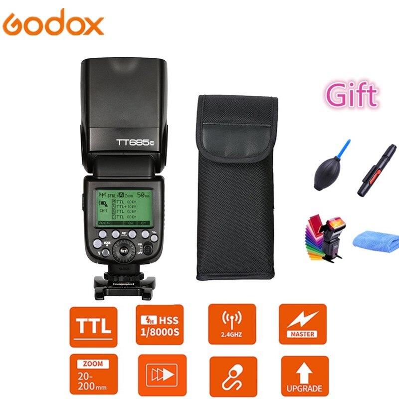 Godox TT685 TT685C TT685N TT685S TT685F TT685O Cámara Flash Speedlite TTL HSS para Canon Nikon Sony Fuji Olympus DSLR Cámara