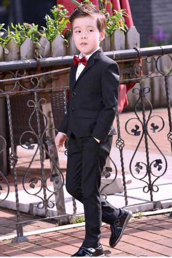Hosen Hemd Genossenschaft Herbst Winter Großen Jungen Hochzeiten Anzüge England Stil Kind Blau/schwarz Party Smoking Anzüge Formale Anzüge Blazer Krawatte